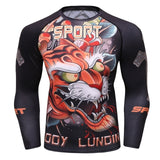 Tiger Compression 'Food for Thought' Elite Long Sleeve Rashguard
