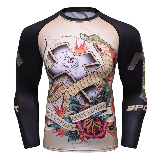 King Cobra Snake 'Mexican Graffiti' Elite Long Sleeve Rashguard