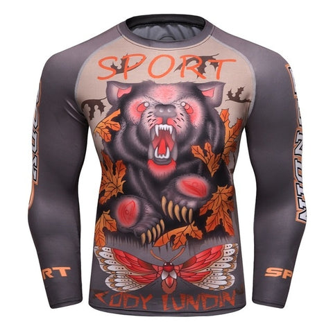 Bear Compression 'In My Woods' Elite Long Sleeve Rashguard