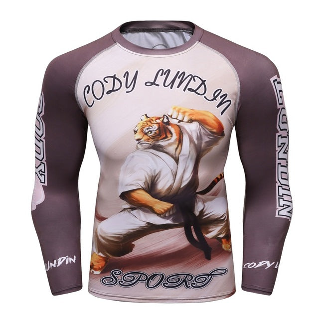 Tiger Compression 'Patience' Elite Long Sleeve Rashguard
