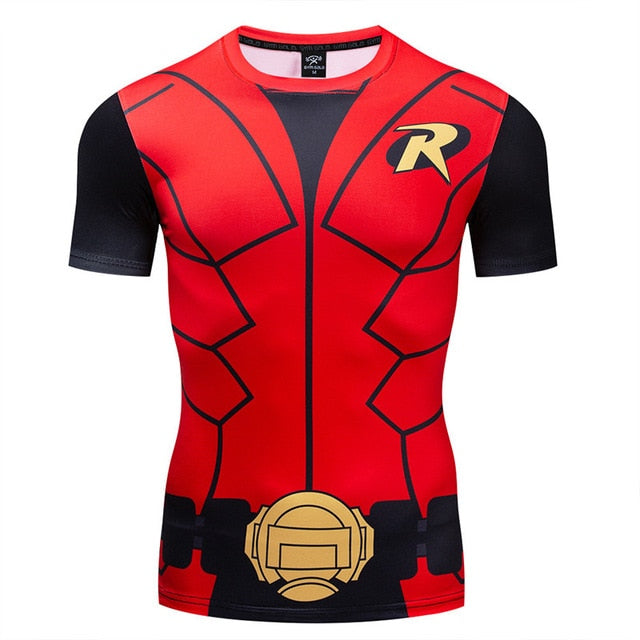 Robin Compression 'Robin the Boy Wonder' Short Sleeve Rashguard