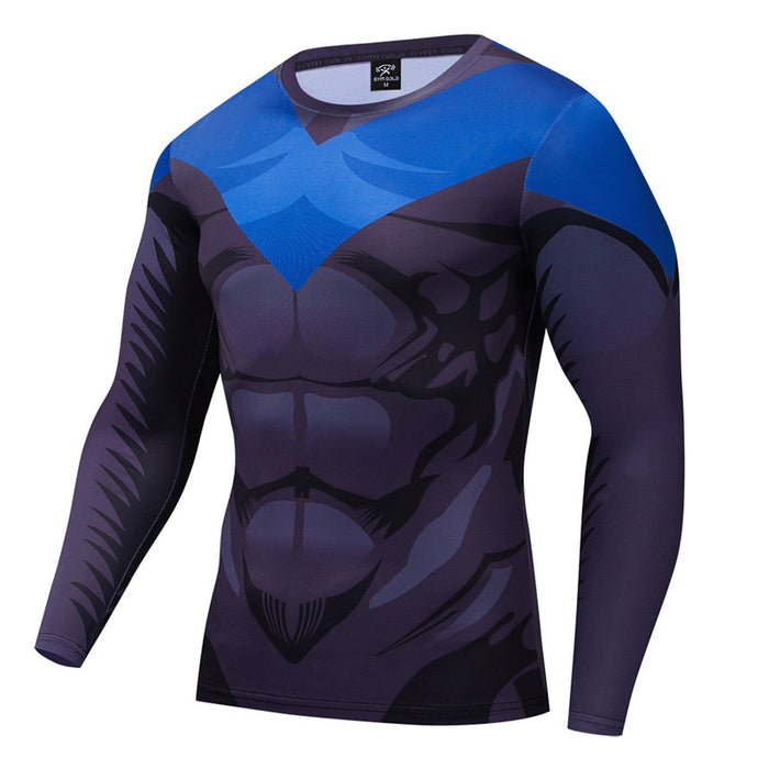 Nightwing Compression 'Serious' Long Sleeve Rashguard