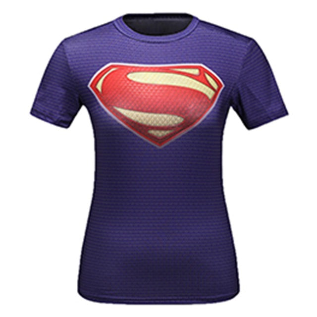 Women's Superman Compression 'At Earth's End' Short Sleeve Rashguard
