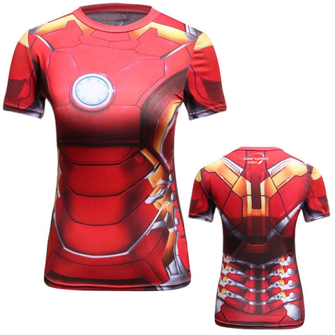 Women's Iron Man Compression Classic Short Sleeve Rashguard