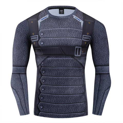 Soldier Compression 'Bucky Barnes' Long Sleeve Rashguard
