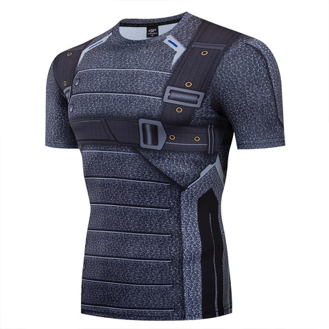 Soldier Compression 'Bucky Barnes' Short Sleeve Rashguard
