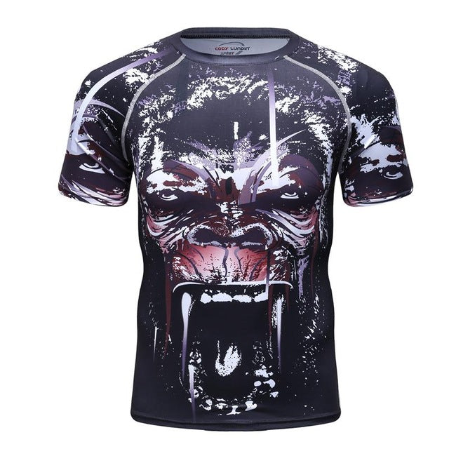 Gorilla Compression 'Kong' Elite Short Sleeve Rashguard