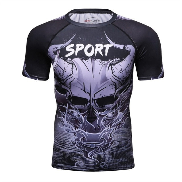 Skull Compression 'Ghost Ship' Elite Short Sleeve Rashguard