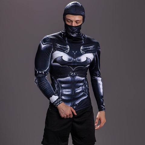 Batman Compression 'Arkham Asylum' Long Sleeve Full Hood Rashguard
