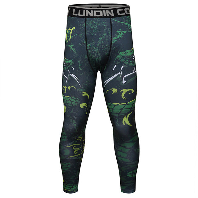 Snake 'Jungle Viper' Compression Leggings Spats