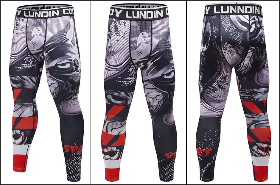 Wolf 'Prey' Compression Leggings Spats