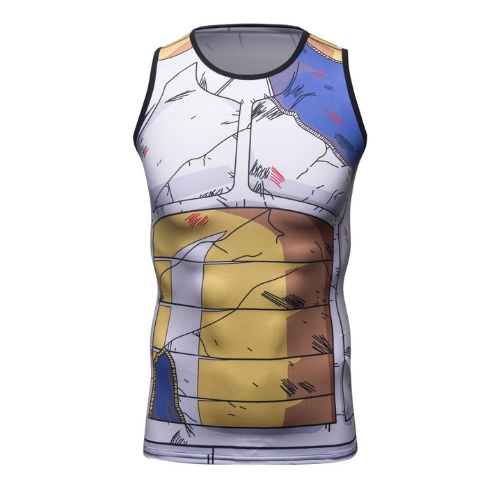 Dragon Ball Z 'Vegeta | Battle Damaged' Elite Compression Tank Top