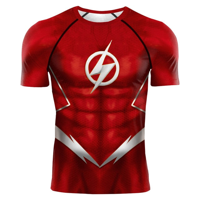 The Flash Compression 'Silver Age' Short Sleeve Rashguard