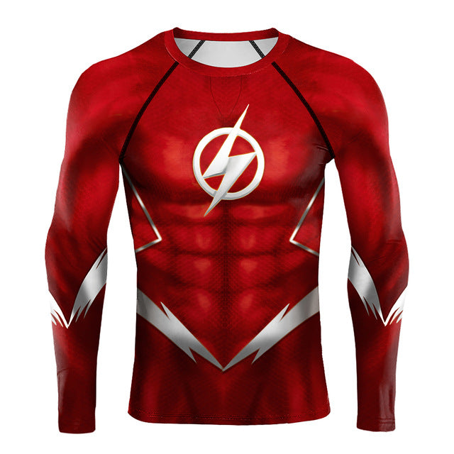 The Flash Compression 'Silver Age' Long Sleeve Rashguard