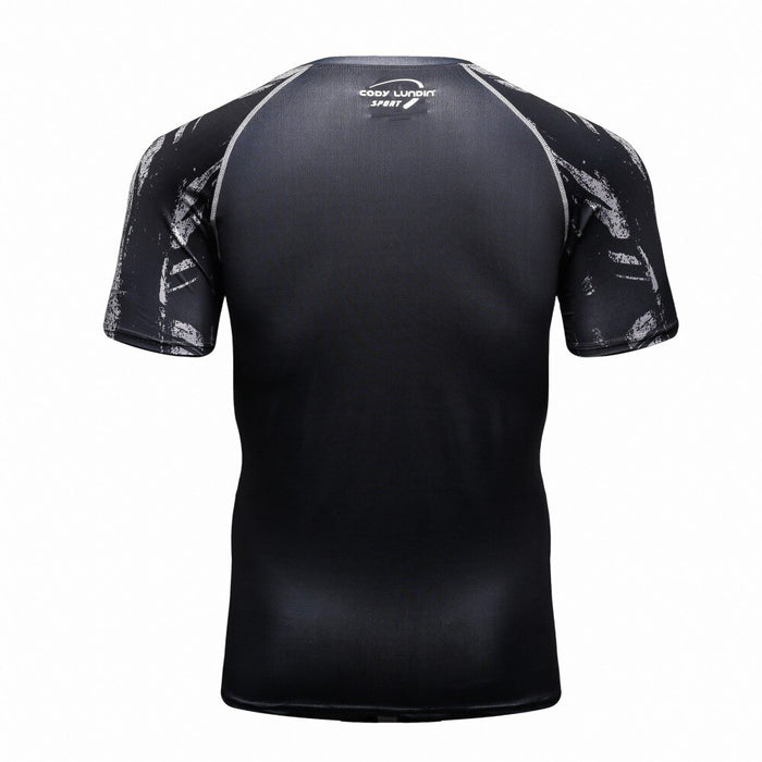Skull Compression 'Crossbones' Elite Short Sleeve Rashguard
