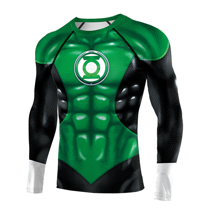 Green Lantern Compression 'War of the Lanterns' Long Sleeve Rashguard