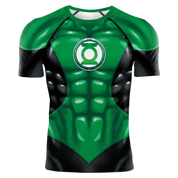 Green Lantern Compression 'War of the Lanterns' Short Sleeve Rashguard