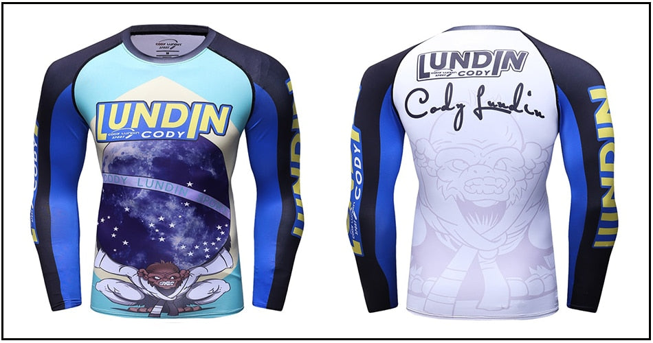 Monkey Compression 'Ordem E Progresso' Elite Long Sleeve Rashguard