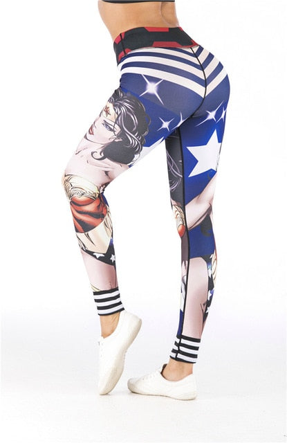 Women's Wonder Woman 'Stars and Stripes' Leggings
