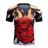 Bull Compression 'The Horns' Elite Short Sleeve Rashguard
