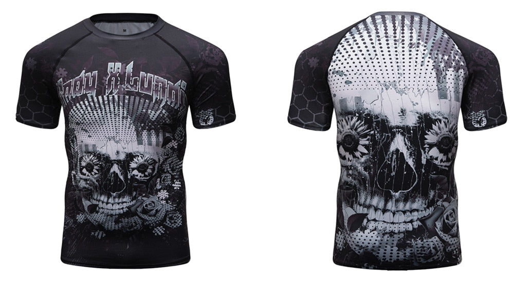 Sugar Skull Compression Elite Long Sleeve Rashguard