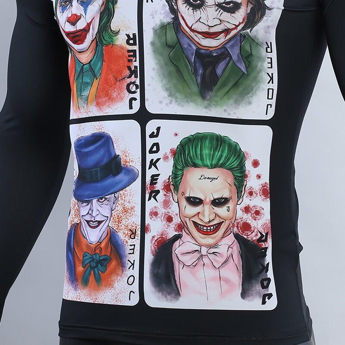 The Joker Compression 'Wildcard' Long Sleeve Rashguard