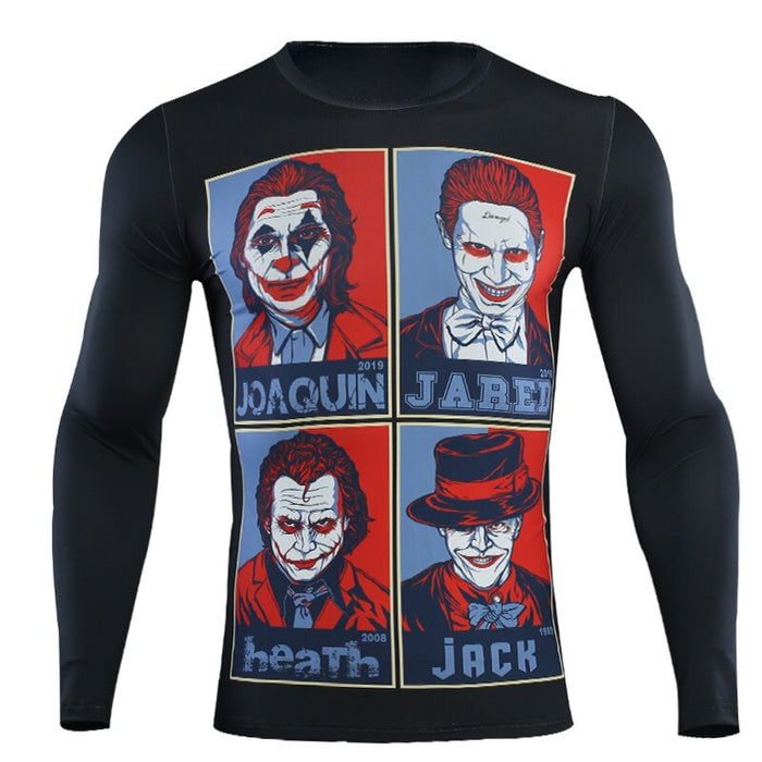 The Joker Compression 'Hope' Long Sleeve Rashguard