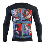 Wonder Woman Compression 'Catwoman | Supergirl | Harley Quinn' Long Sleeve Rashguard