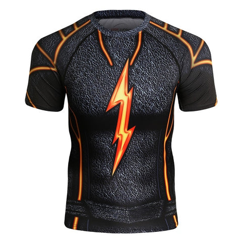 The Flash Compression 'Dark' Elite Short Sleeve Rashguard