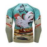 Rooster Compression 'Kung Fu' Elite Long Sleeve Rashguard