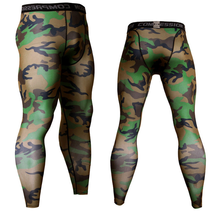Men's Camouflage Compression Leggings Spats