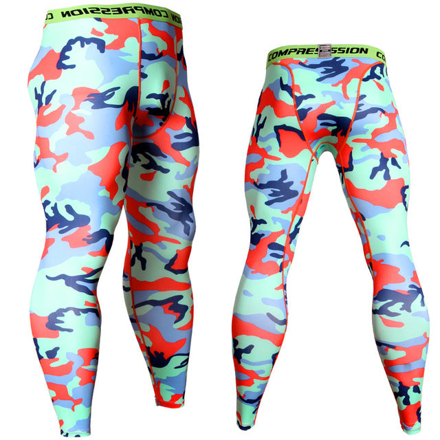 Men's Camouflage 'Rowdy Digital' Compression Leggings Spats