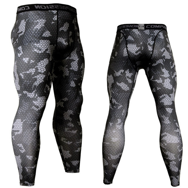 Men's Camouflage 'Urban Digital' Compression Leggings Spats