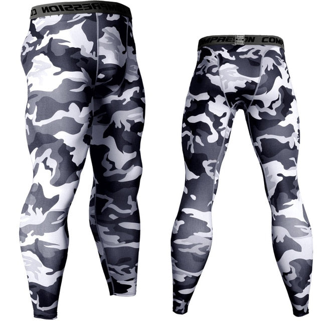 Men's Camouflage 'Winter' Compression Leggings Spats