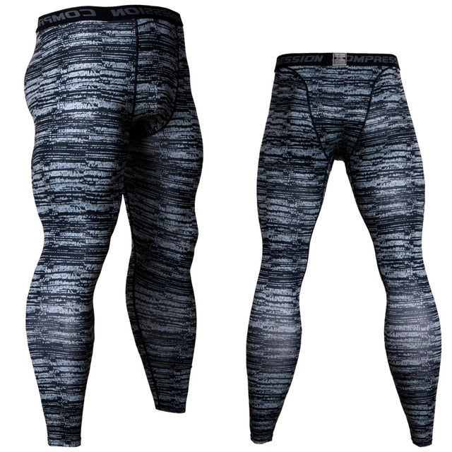 Men's Camouflage 'Slate' Compression Leggings Spats