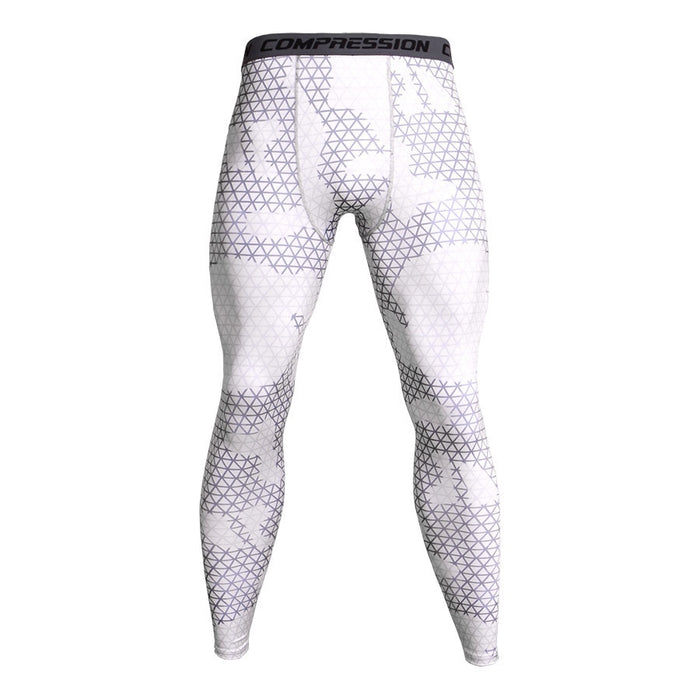 Men's Camouflage 'Ice Digital' Compression Leggings Spats