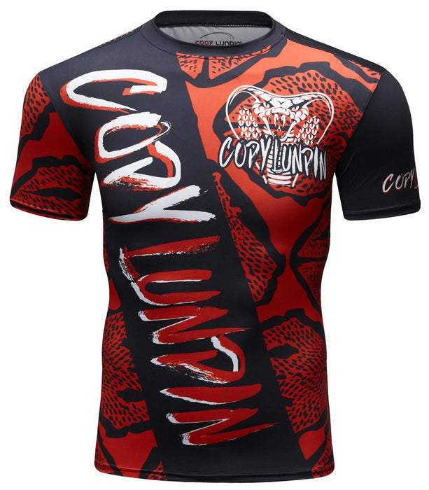 King Cobra Compression 'Red Scales' Elite Short Sleeve Rashguard