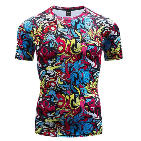 Art Compression 'Graffiti | 2.0' Short Sleeve Rashguard