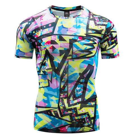 Art Compression 'Cool Runnings' Short Sleeve Rashguard