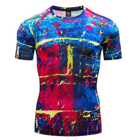 Art Compression 'Jackson Pollock | 3.0' Short Sleeve Rashguard