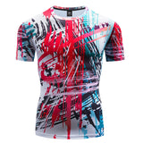 Art Compression 'Jackson Pollock' Short Sleeve Rashguard