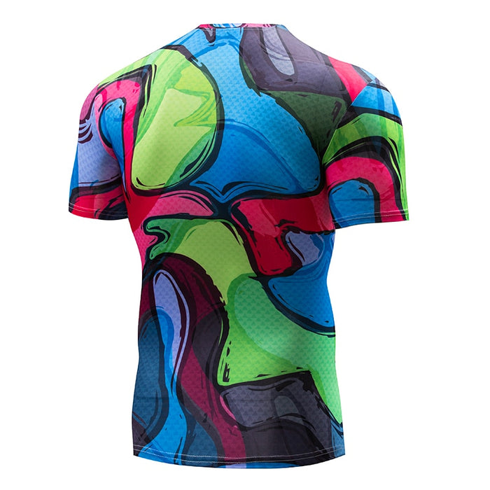 Art Compression 'Groovy' Short Sleeve Rashguard