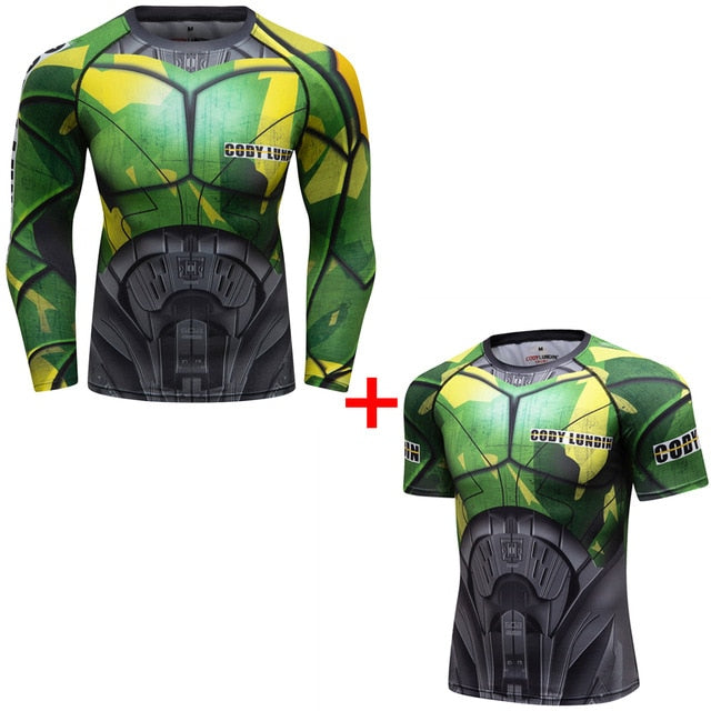 Warrior Compression 'Ground Zero | Set of 2' Elite Rashguard