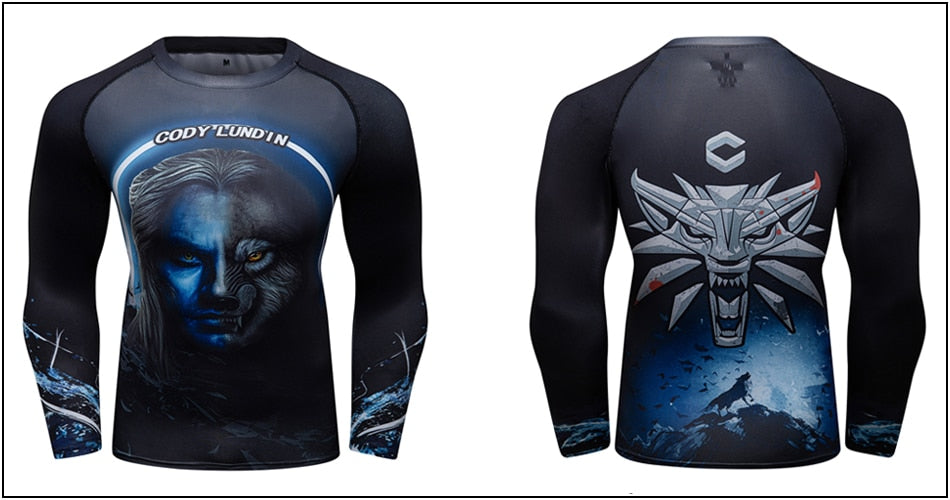 Wolf Compression 'Of Wolf and Man | Set of 2' Elite Rashguard