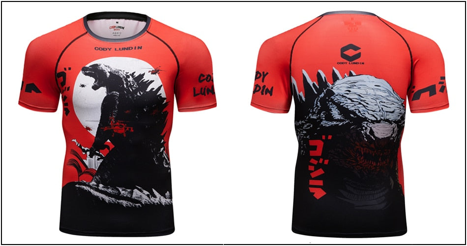 Warrior Compression 'Godzilla | King of Monsters' Elite Short Sleeve Rashguard