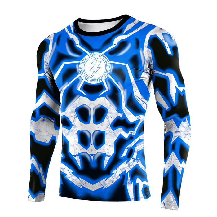 The Flash Compression 'Blue Lightning' Long Sleeve Rashguard