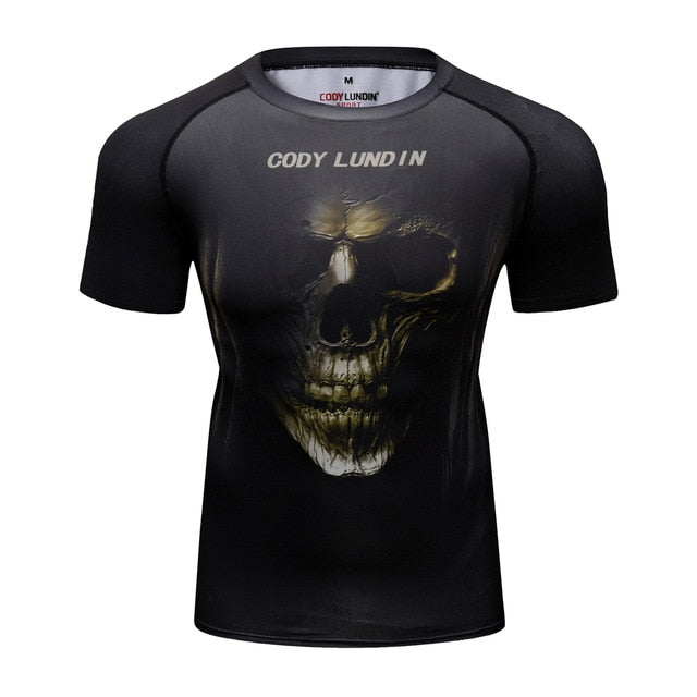 Skull Compression 'In the Shadows' Elite Short Sleeve Rashguard