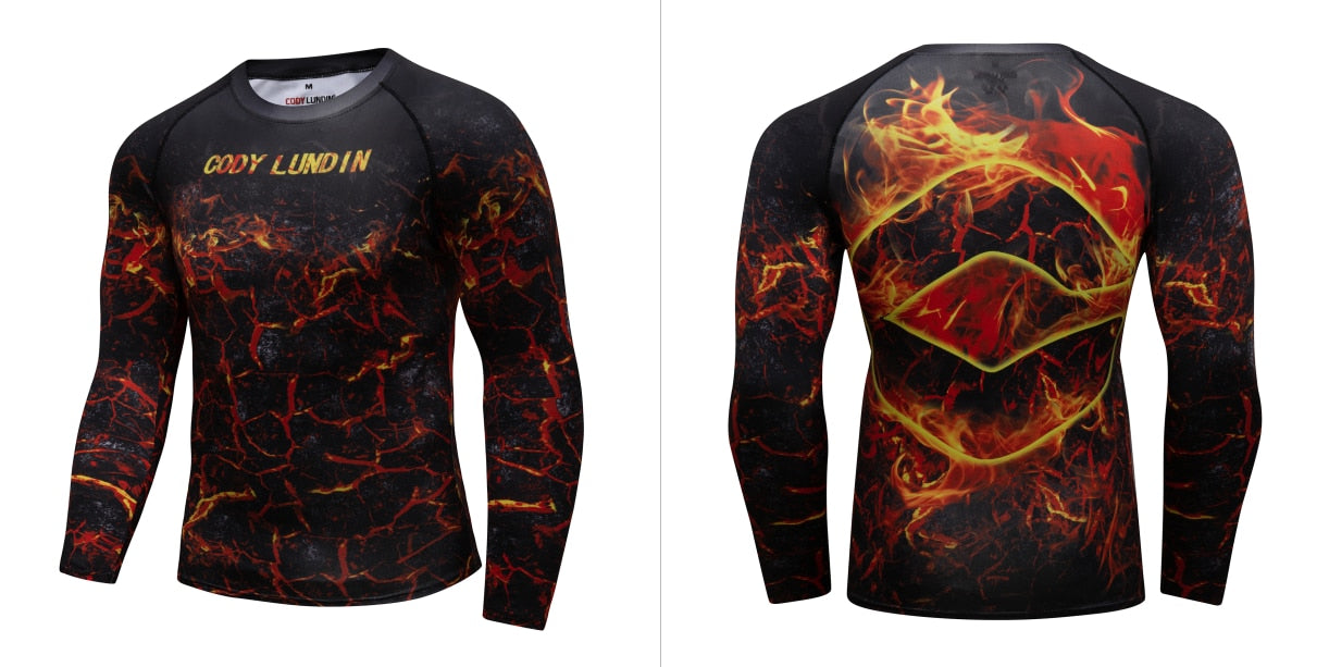 Warrior Compression 'Magma' Elite Long Sleeve Rashguard