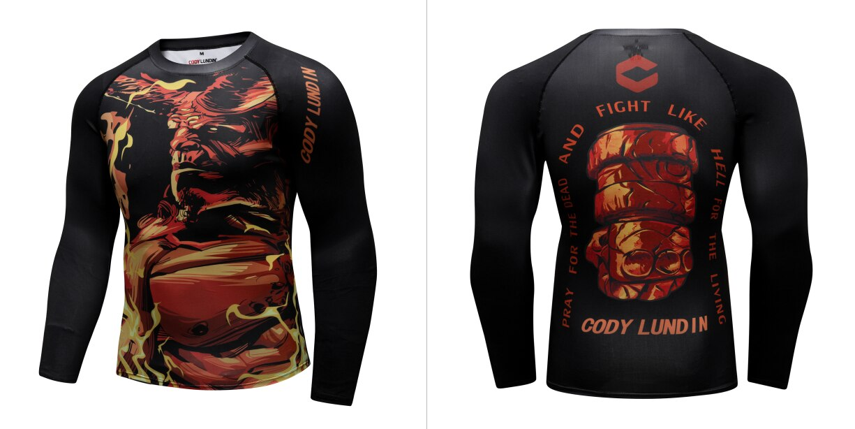 Warrior Compression 'Hell Boy' Elite Long Sleeve Rashguard