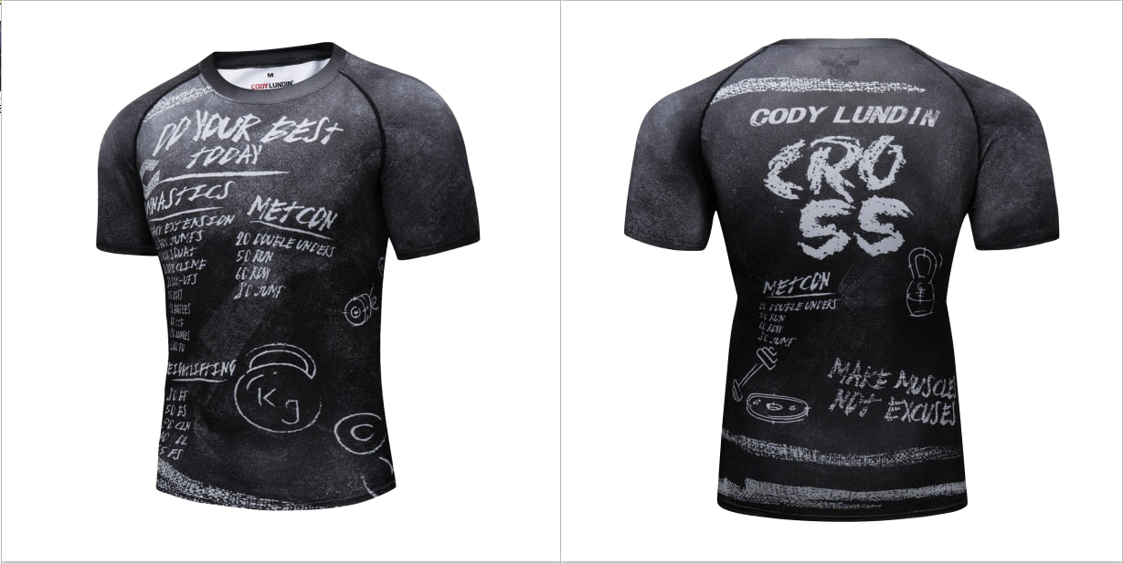 Warrior Compression 'Metcon | Wod' Elite Short Sleeve Rashguard